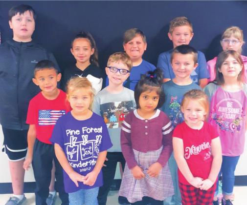Pine Forest Elementary Students of the Month