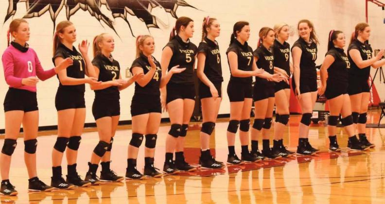 Lady Pirates 2020 Playoff Team For only the second time in VHS history, the Vidor Lady Pirate volleyball team qualified for a playoff spot. Pictured are Skyler Head, Brooklyn Healy, Ella Bunting, Aarilynn Richardson, Ava Lightfoot, Brooklyn Bushelle, Brilie Cornelison, Izzy Wade, Kennedy Ardis, Rylee Sherman, Claire Villadsen and Ashleigh Sherman.